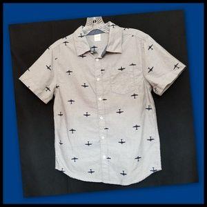 Gymboree*Boys Planes Oxford Shirt